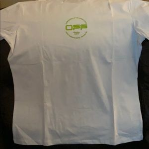 Off white T-shirt white yellow and green